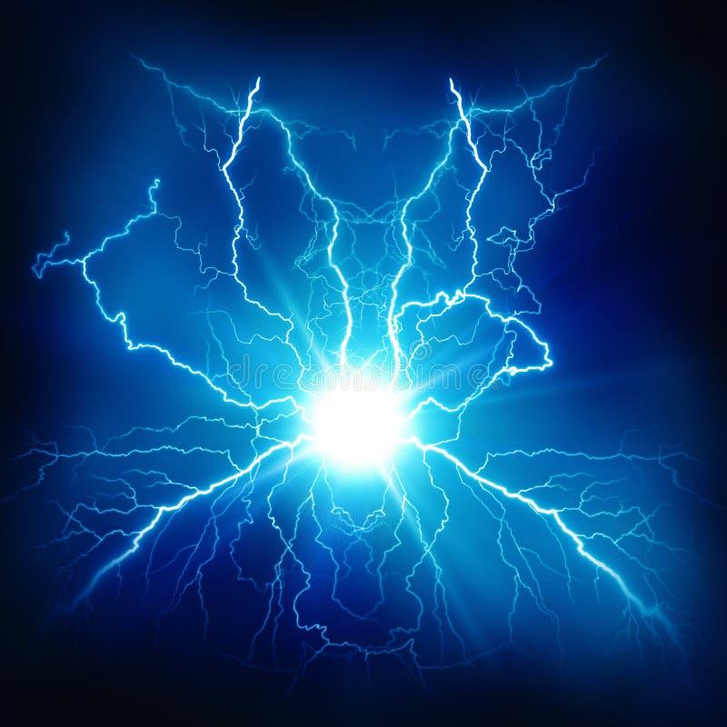 Efecto luminoso eléctrico ilustración del vector