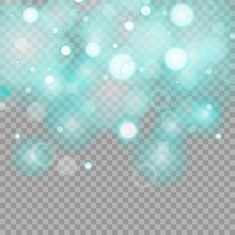 Efecto luminoso especial del brillo blanco de las chispas El vector chispea en fondo transparente stock de ilustración