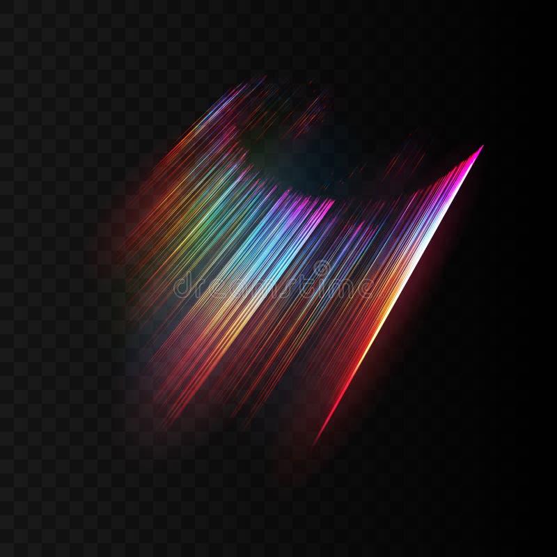 Efecto luminoso transparente del aurora borealis ilustración del vector