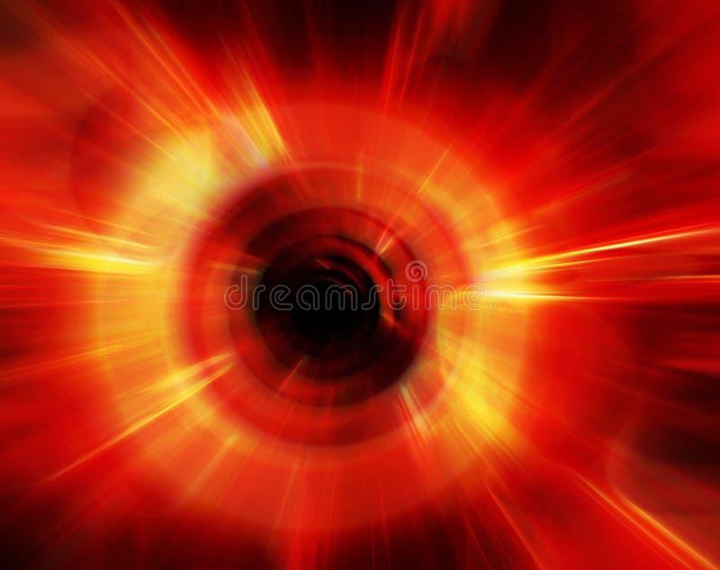 Efecto radial abstracto del color imagen de archivo libre de regalías