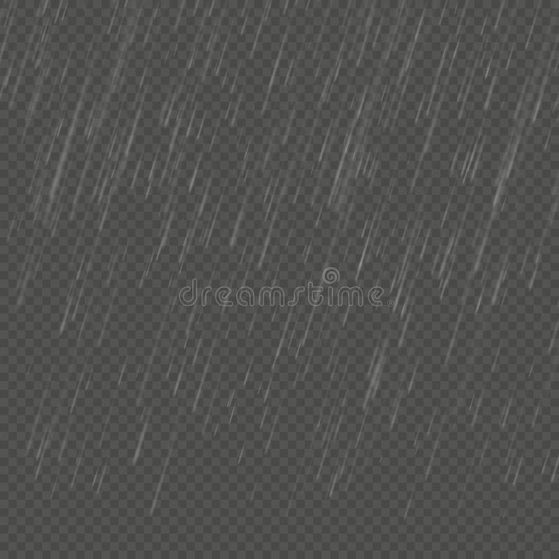 Efecto realista aislado lluvia del anglewise Plantilla transparente de la precipitación de la naturaleza EPS 10 stock de ilustración