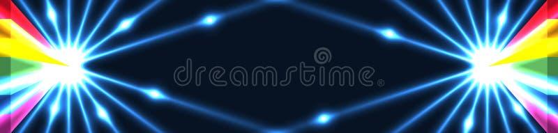 efecto RGB de la puerta del triángulo del arco iris 3d ilustración del vector