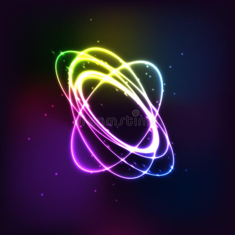 Efecto torcido ligero brillante redondo de la chispa del círculo del brillo El anillo mágico que brilla intensamente remonta en u libre illustration