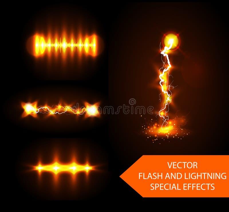Efectos de destello del vector libre illustration