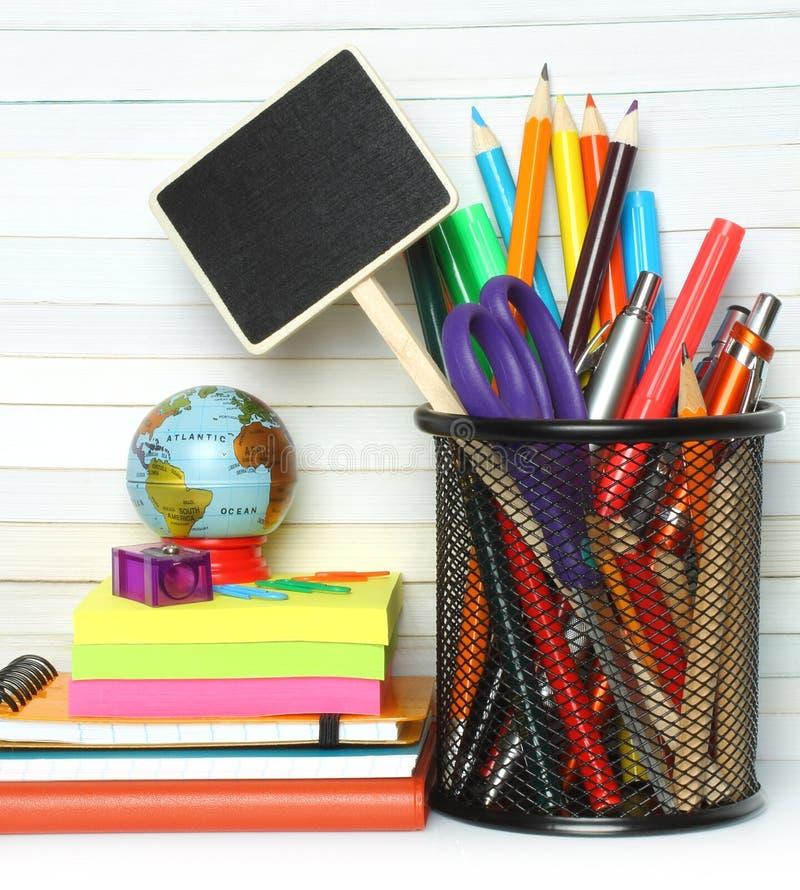 Efectos de escritorio de la dirección de la escuela imagenes de archivo