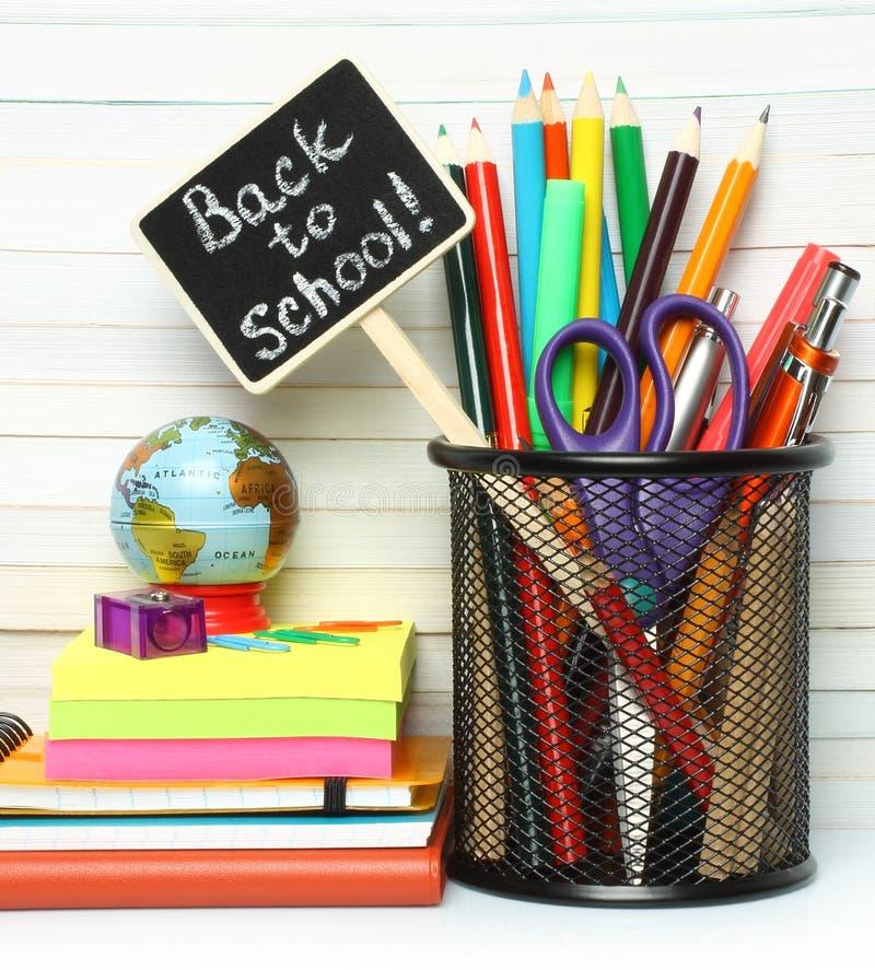 Efectos de escritorio de la dirección de la escuela fotos de archivo libres de regalías