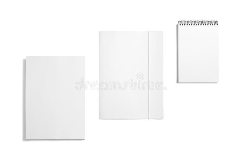 Efectos de escritorio en blanco aislados en blanco fotografía de archivo libre de regalías