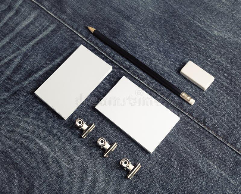 Efectos de escritorio en blanco del negocio foto de archivo libre de regalías