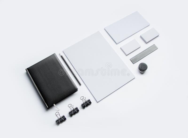 Efectos de escritorio en blanco en blanco imagenes de archivo