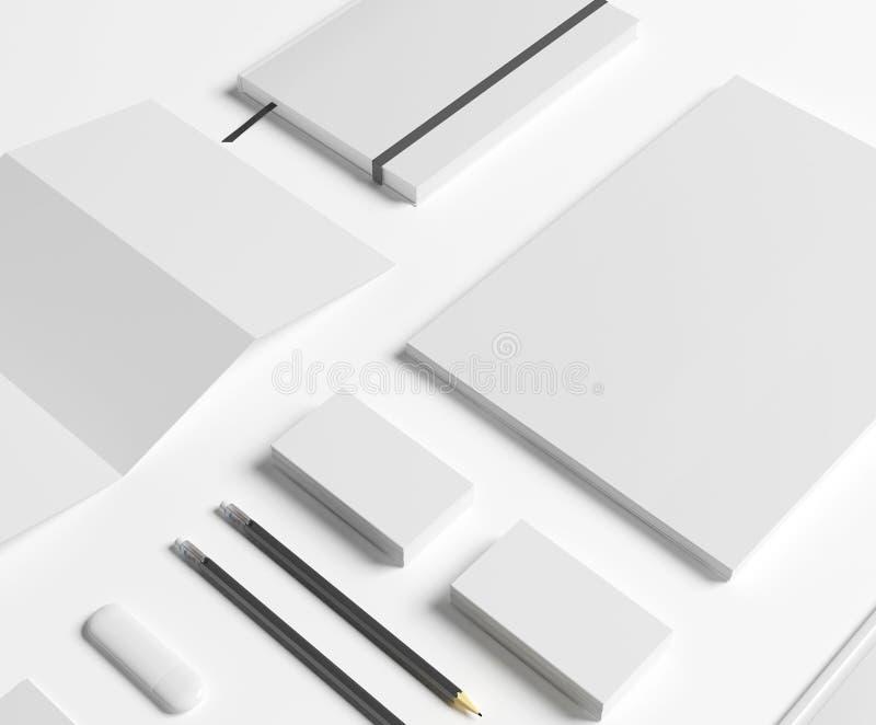 Efectos de escritorio en blanco fijados en blanco ilustración del vector