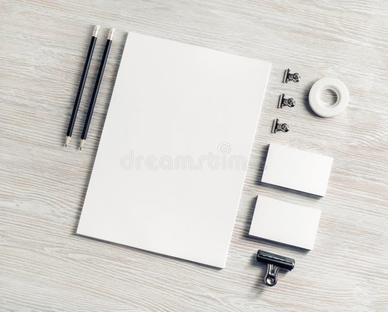 Efectos de escritorio de marcado en caliente en blanco fotos de archivo