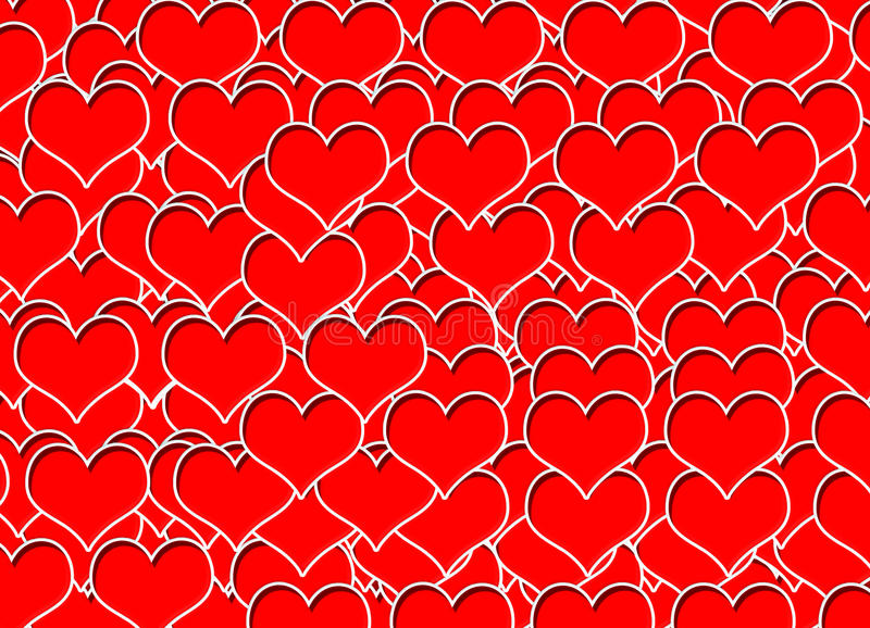 Efectos de la falta de definición del fondo de la textura de la tarjeta del día de San Valentín stock de ilustración