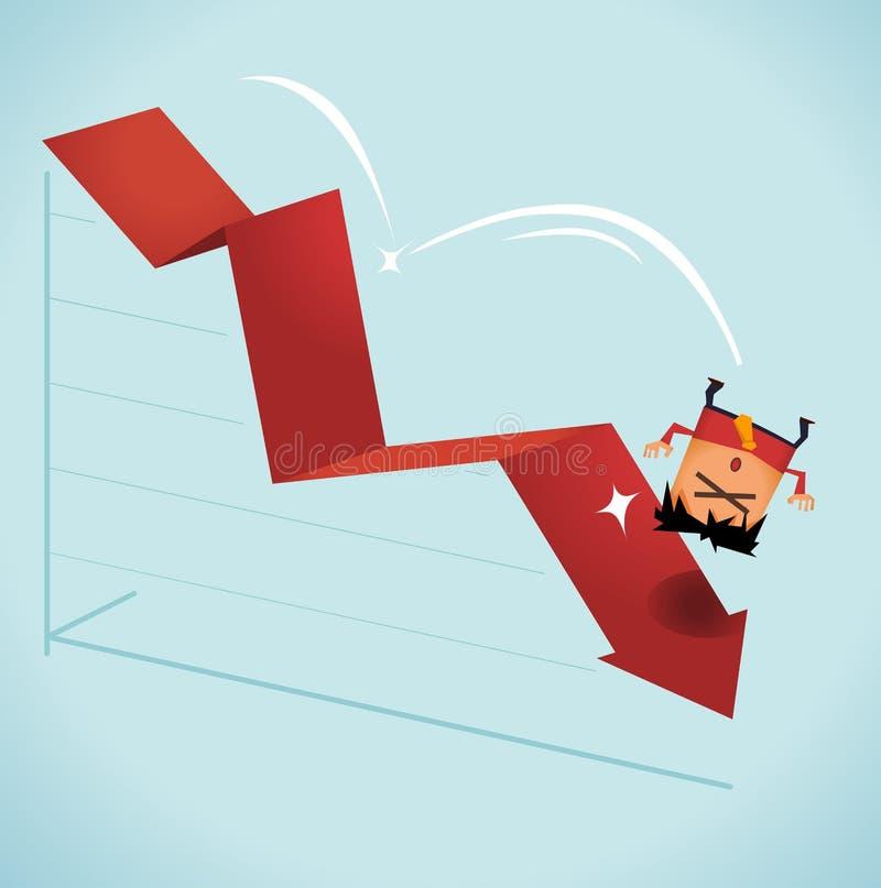 Efectos de la recesión ilustración del vector