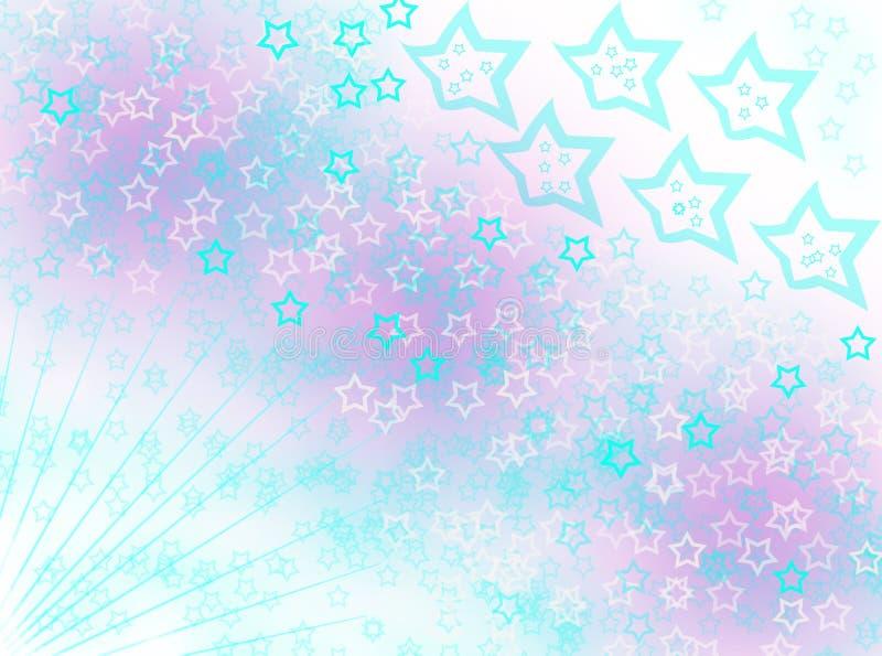 Efectos de levantamiento de la falta de definición del fondo de las estrellas libre illustration