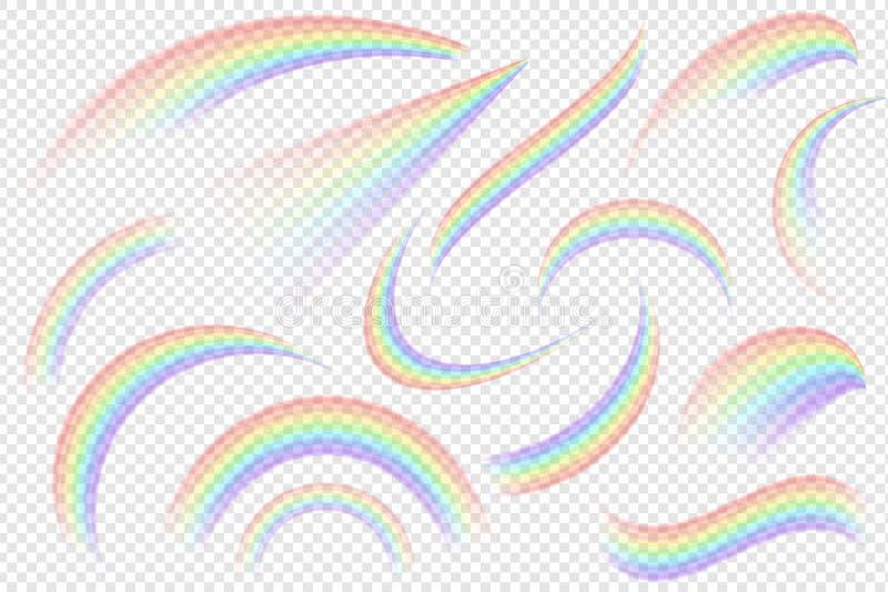 Efectos del arco iris sobre fondo transparente Vector EPS 10 libre illustration