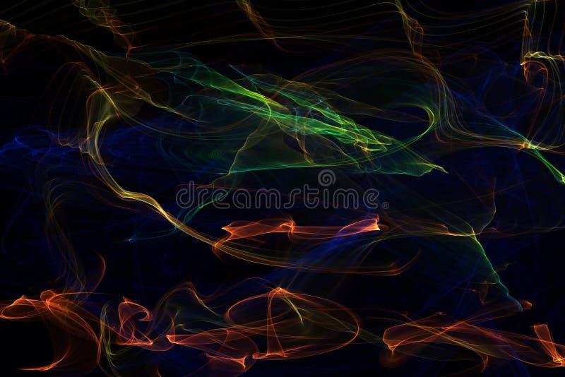 Efectos luminosos con el fuego multicolor imagen de archivo