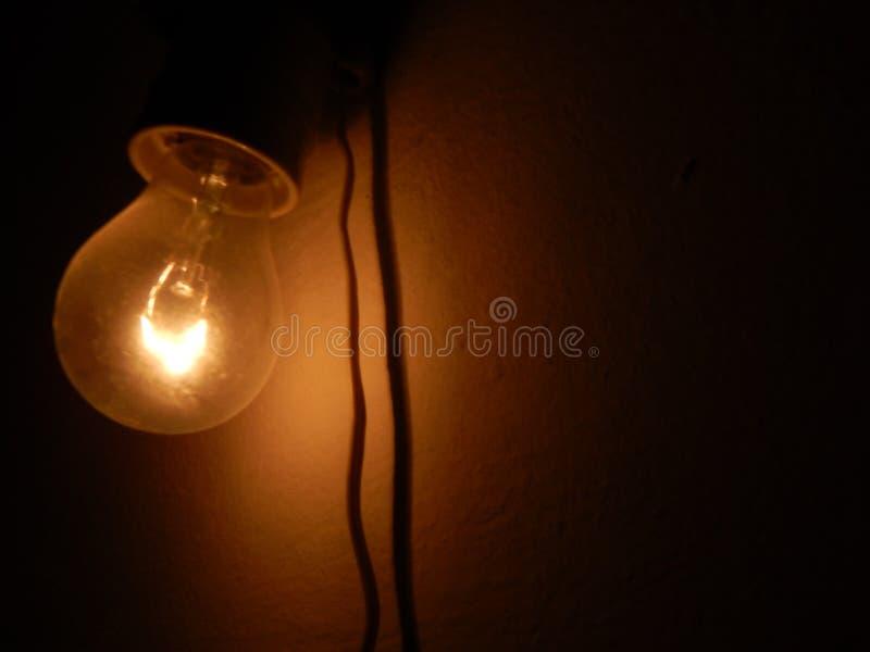 Efectos luminosos de la luminiscencia, lámpara de resplandor fotografía de archivo
