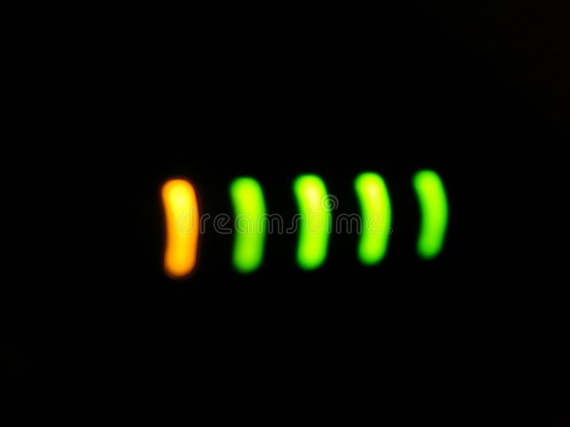Efectos luminosos de la luminiscencia, lámpara de resplandor foto de archivo