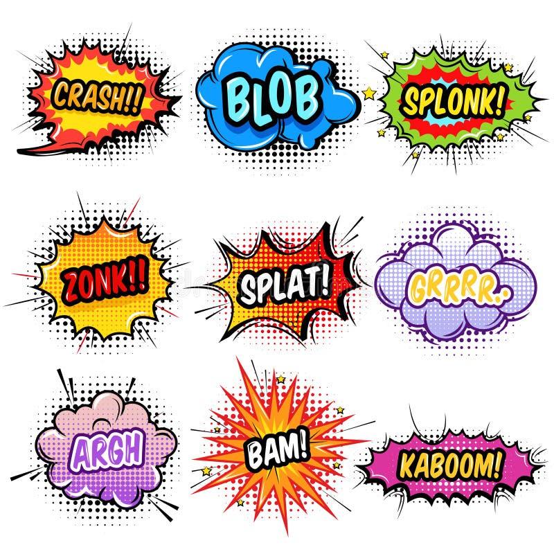 Efectos sonoros cómicos fijados libre illustration