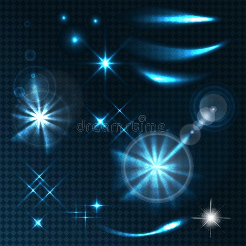 Efectos transparentes ilustración del vector