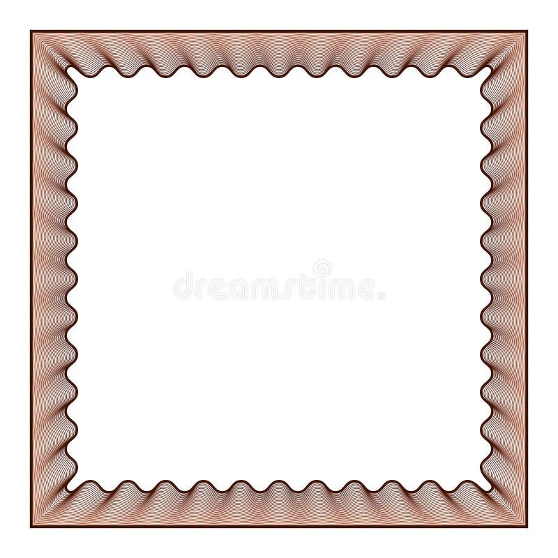 Efeito abstrato do guilloche do quadro da foto, quadro do vetor com linhas protetoras da filigrana ilustração do vetor
