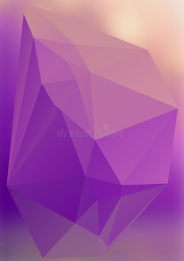 Efeito abstrato moderno light22 de incandescência dos triângulos 3d do fundo ilustração stock