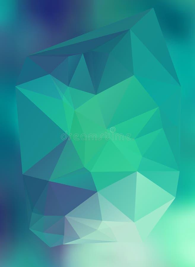 Efeito abstrato moderno light36 de incandescência dos triângulos 3d do fundo ilustração do vetor