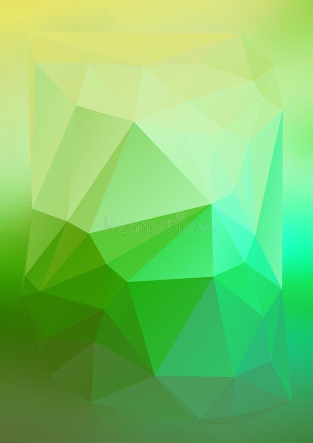 Efeito abstrato moderno light78 de incandescência dos triângulos 3d do fundo ilustração stock