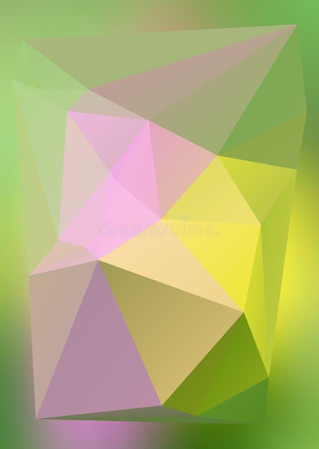 Efeito abstrato moderno light85 de incandescência dos triângulos 3d do fundo ilustração do vetor