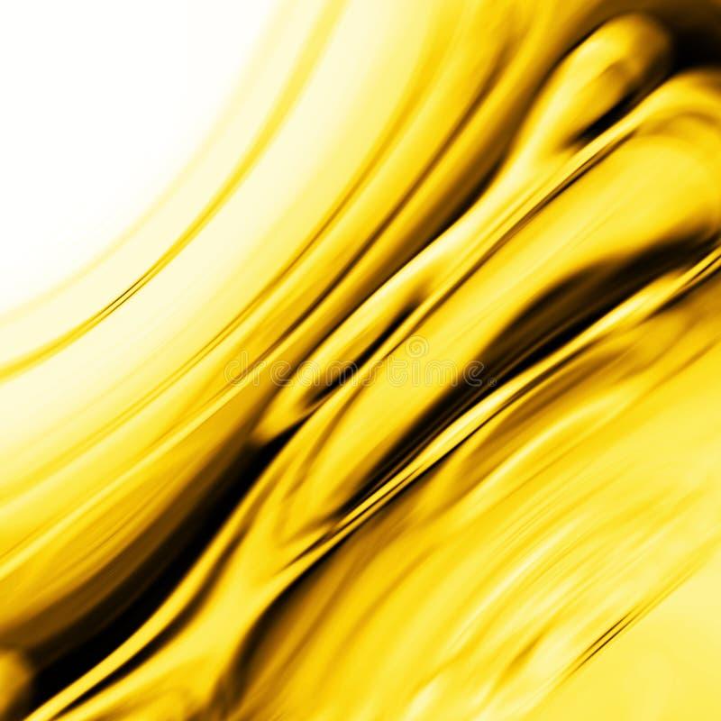 Efeito amarelo dourado da cachoeira ou do smaragd ilustração royalty free
