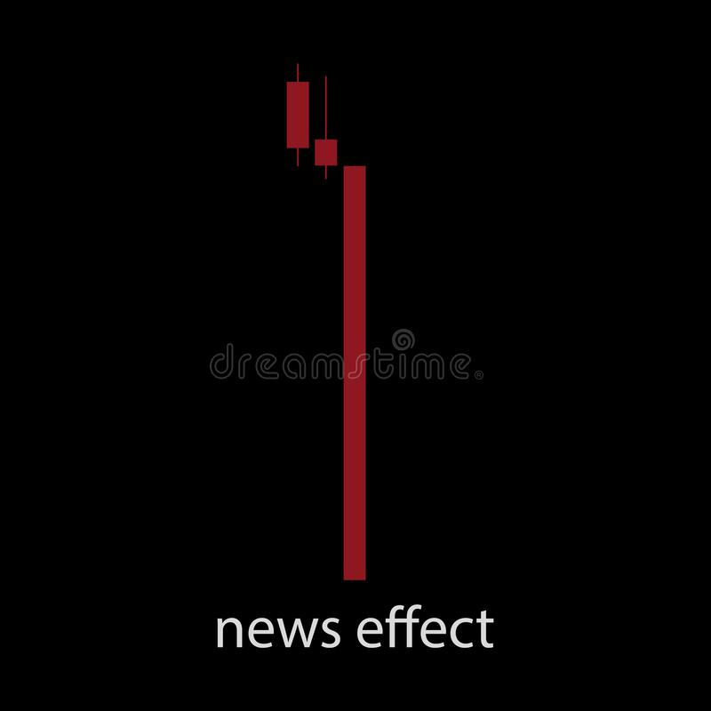 Efeito Bearish da notícia ilustração stock