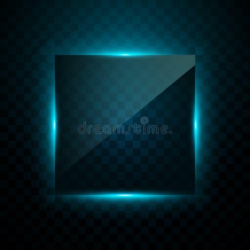 Efeito claro azul do vetor ilustração do vetor