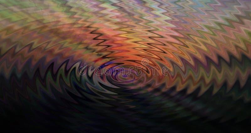 Efeito colorido do ` das ondas sadias do ` ilustração royalty free