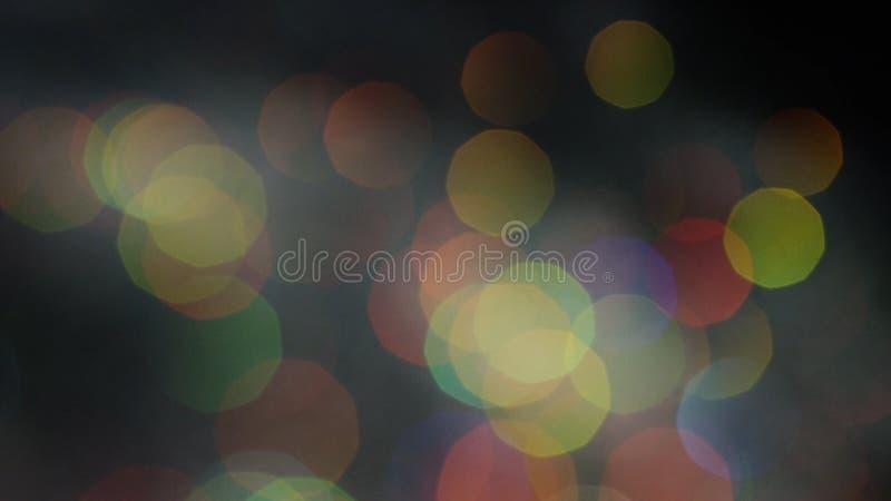 Efeito colorido m?gico brilhante do bokeh como o fundo Metragem conservada em estoque Luzes coloridas borradas sum?rio fotos de stock