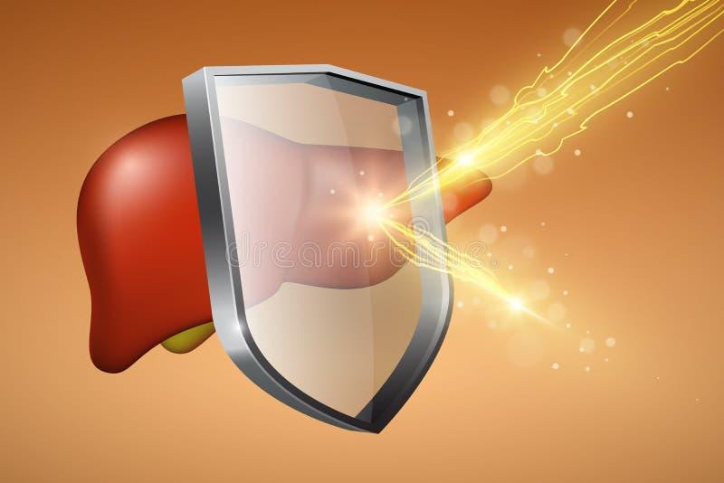 Efeito, conceito da proteção sanitária ilustração do vetor