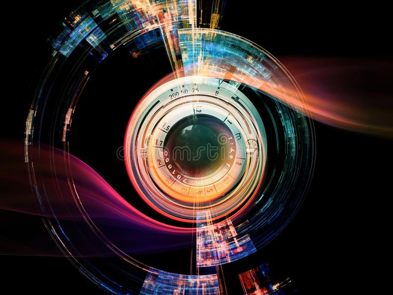 Efeito da lente de Digitas ilustração do vetor
