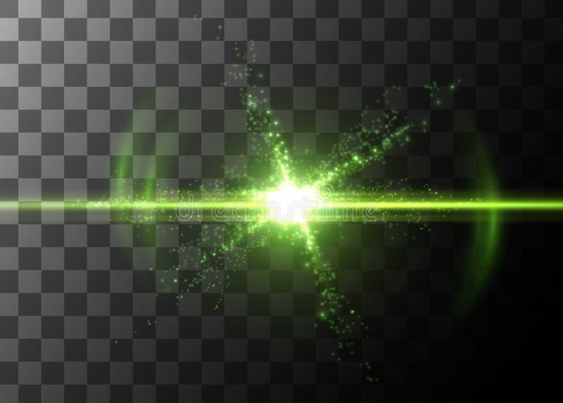 Efeito da luz, alargamento de incandescência Elemento do vetor ilustração do vetor
