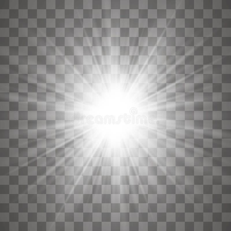 Efeito da luz do fulgor ilustração royalty free