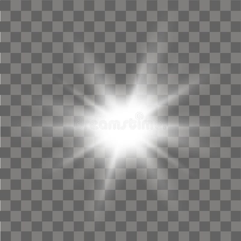 Efeito da luz do fulgor Efeito abstrato do alargamento da iluminação Vetor ilustração royalty free