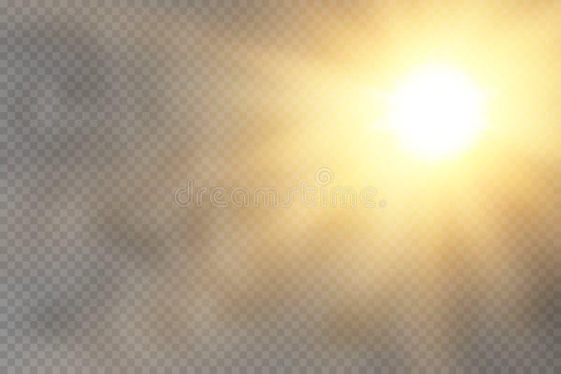 Efeito da luz do fulgor Explosão da estrela com Sparkles ilustração do vetor