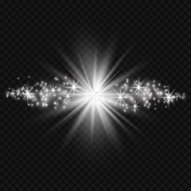 Efeito da luz do fulgor Ilustração do vetor Conceito instantâneo do Natal ilustração royalty free