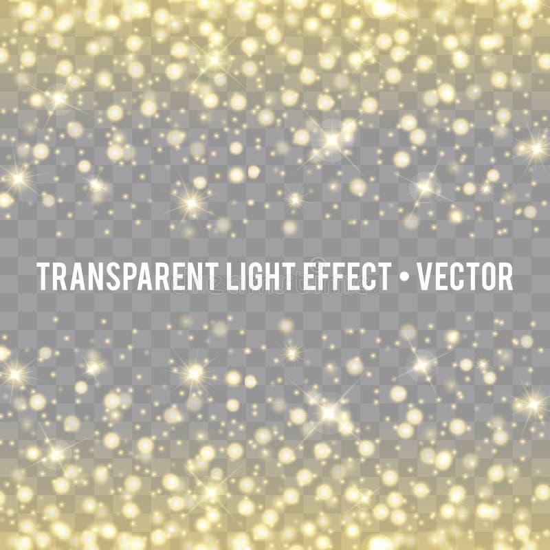 Efeito da luz do fulgor do vetor Explosão da estrela com Sparkles ilustração do vetor