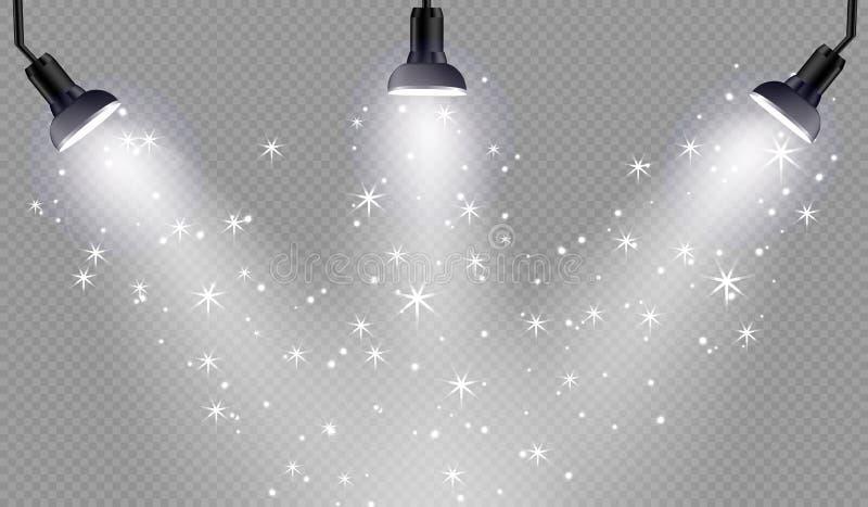 Efeito da luz especial do alargamento da lente da luz solar transparente do vetor ilustração stock
