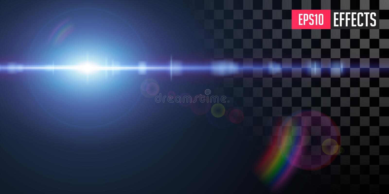 Efeito da luz especial transparente do alargamento da lente da estrela azul da fic??o cient?fica do vetor ilustração do vetor