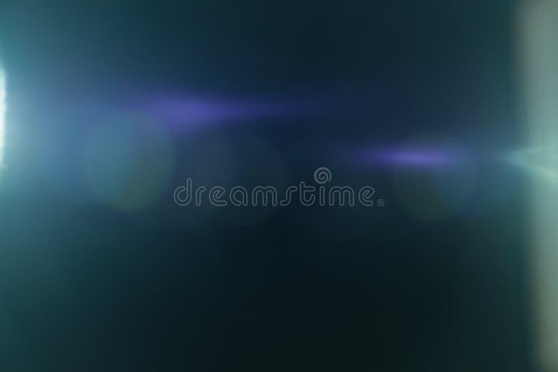 Efeito da luz real do alargamento da lente Escape de Ray fotos de stock