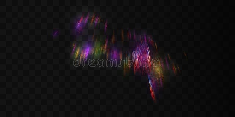 Efeito da luz transparente do aurora borealis ilustração royalty free