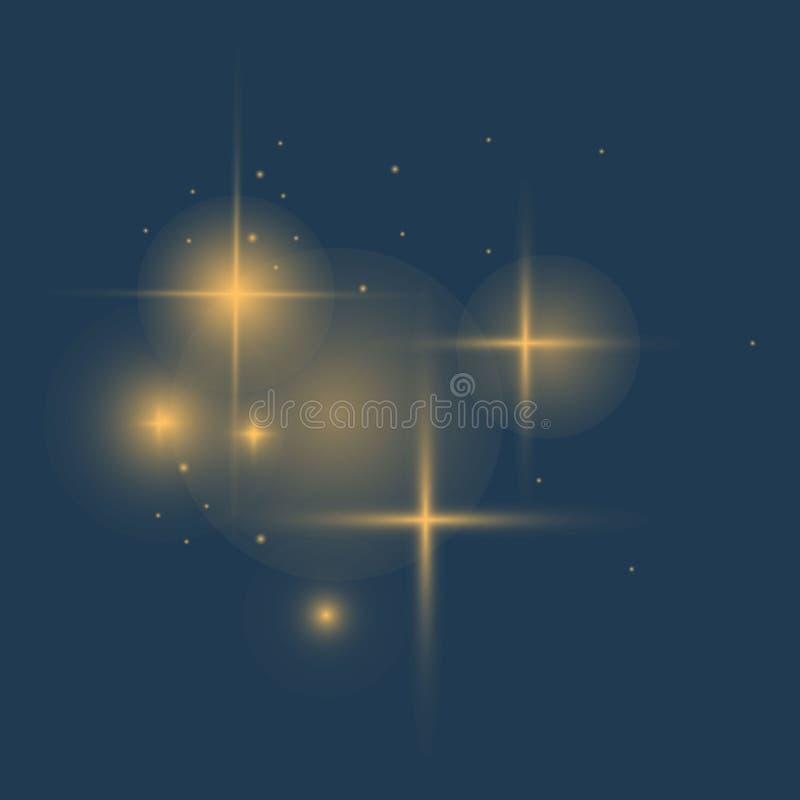 Efeito das luzes de incandescência ilustração royalty free
