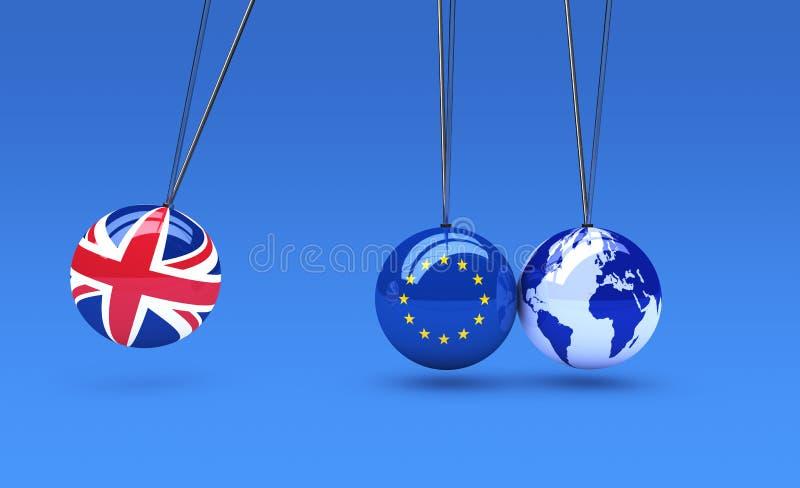 Efeito de Brexit e conceito das consequências ilustração royalty free
