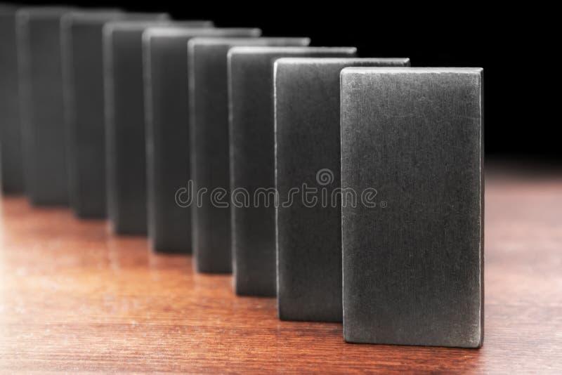 Efeito de dominó fotografia de stock