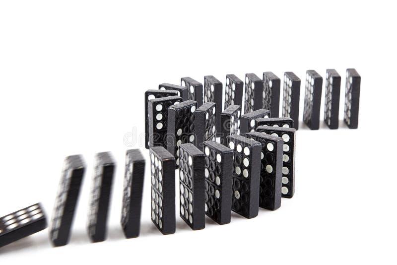 Efeito de dominó foto de stock royalty free